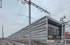 Billowing Cement Railway Stations - EM2N Architecture Firm Gave a Station in Zurich a Rippled Effect