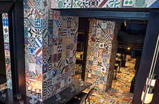 Ethnically Ornate Eateries - The Llama Restaurante Sudamerico Features Decorative Tile Accents