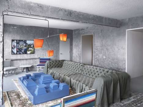 Modernist Concrete Resorts - The Line Hotel by Knibb Design Features Surreal Elements