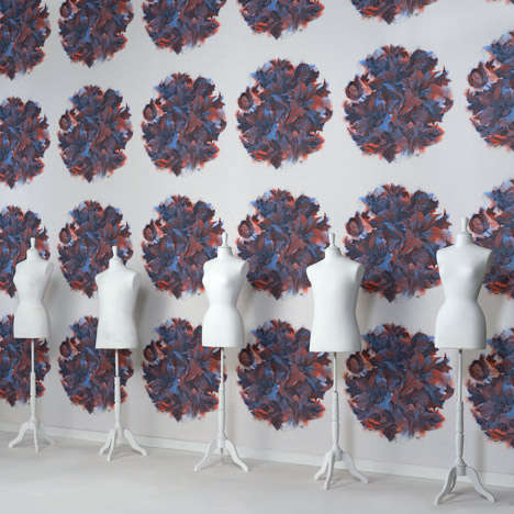 Avant-Garde Patterned Wallpaper - Maison Martin Margiela