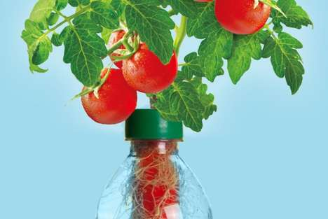 Plastic Bottle Vegetable Gardens - The Petomato Planter is Organic, Educational and Eco-Friendly