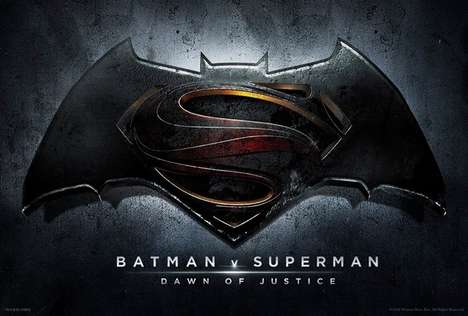 Hybrid Superhero Emblems - The 2016 Dawn of Justice Film Fuses Batman and Superman