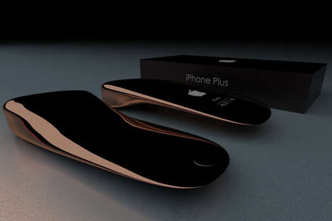 Sleek Futuristic Phone Concepts - The Apple iPhone Plus Concept Takes the Phone in a New Direction