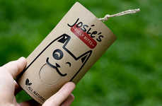 Cartoonish Dog Treat Branding - Josie's Bully Bites Comes in a Recyclable Container