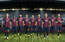 Gorgeously Bold Soccer Kits - Barcelona's New Soccer Kit Features Wider Stripes and Bolder Colors