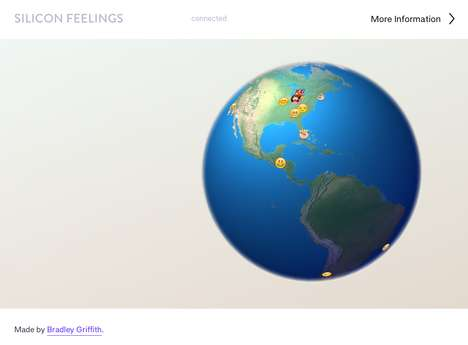 Global Emoji Tracker Maps - Silicon Feelings Tracks Emoji Icon Use on Twitter in Real Time