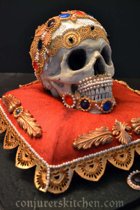 Bejeweled Candy Skulls - These Intricate Sugary Skulls are Surprisingly Edible