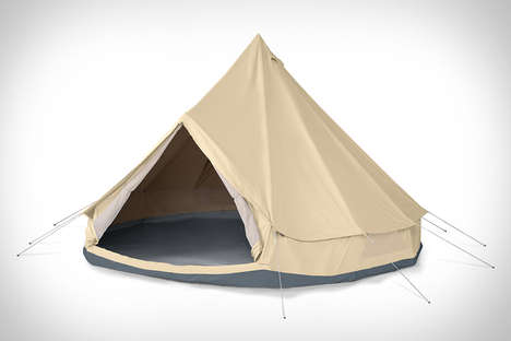 Luxe Camping Shelters - The Meriwether Tent is Spacious Enough for an Entire Bedroom Set