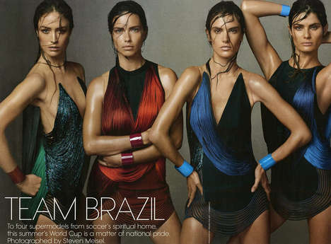 Sweaty Supermodel Editorials - The Vogue US 'Team Brazil' Photoshoot Celebrates Upcoming World Cup