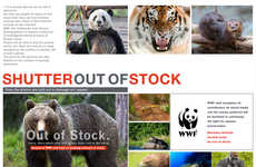Endangered Photo Campaigns - WWF's Shutter Out of Stock Wildlife Photos Are Extremely Limited