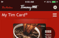 Convenient Coffee Payment Apps - Tim Hortons' Timmy Me App Now Lets You Pay with Your Smartphone