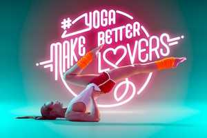 Björn Ewers Showcases Neon Typography with the Help of a Professional Yogi