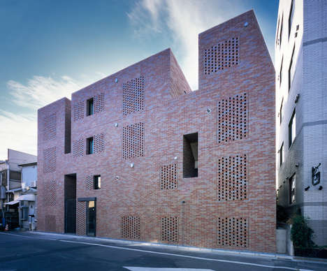 Perforated Brick Architecture - Love Architecture Works with the Urban Layout for Shugoin Housing
