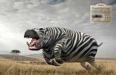 Powerful Animal Hybrid Ads - These Kingston USB 3.0 1TB Ads Boast Speed and Size