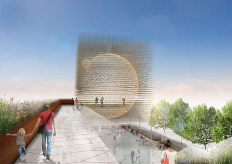 Hive-Like Pavilions - Wolfgang Buttress is Set to Build the UK Pavilion for Expo Milan