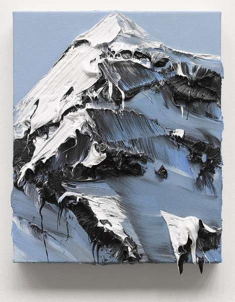 Moving Mountainous Paintings - The Conrad Jon Godly Pieces Depict Peaks and Height Throughout