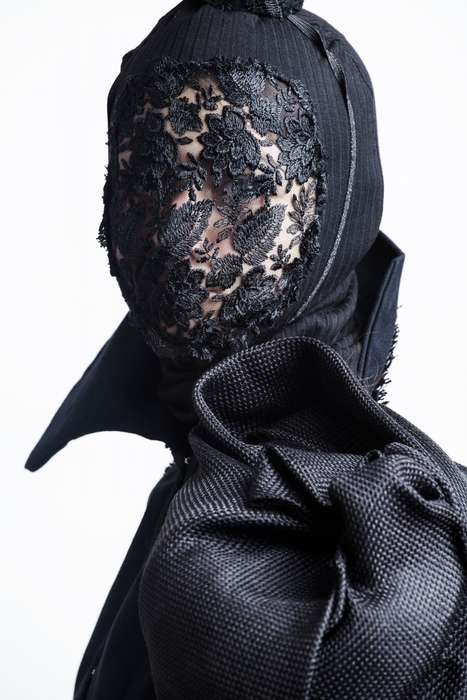 Masked Lace Attire - The Nino Sepo Reincarnation Collection is Conceptual