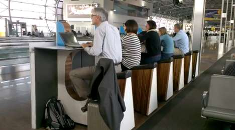 Cycling Phone Charge Stations - Schiphol Airport Has Pedal-Powered Phone Charging Stations