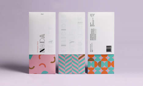 Geometric Lifestyle Packaging - Nada's Healthy Packaging Design is Vivid and Crafty