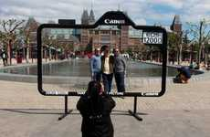 Framed Snapshot Billboards - A Camera-Shaped Ad Frames a Perfect Shot with the Canon EOS 1200D