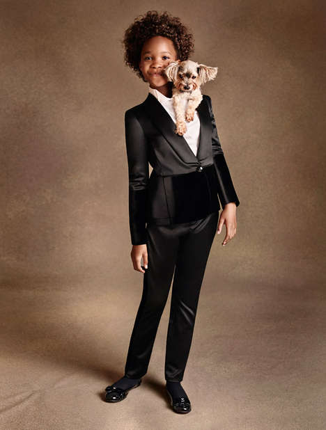 Child Actor Fashion Ads - The Armani Junior FW14 Campaign Stars a Suited Quvenzhane Wallis