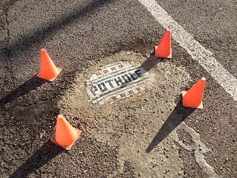 Mosaic Pothole Solutions - Artist Jim Bachor is Filling Potholes in Chicago With Tiled Artwork