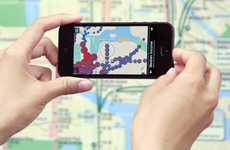 Augmented Reality Transit Maps - An App Lets You Interact With NYC Subway Map Data Visualization