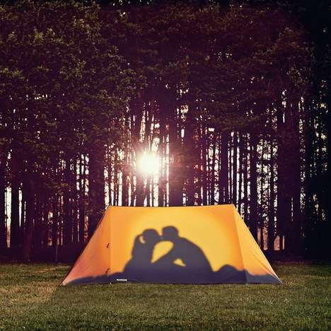 Romantic Silhouette Tents - The Get a Room Tent Boasts a Cheeky Image for Onlookers