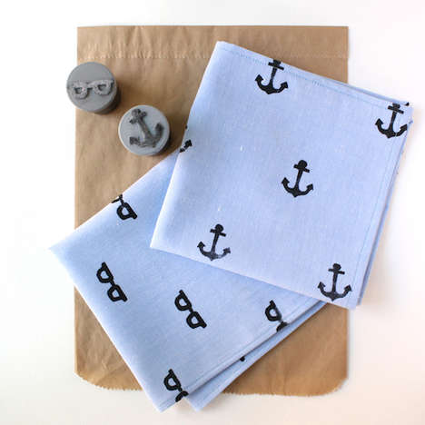 Homemade Nautical Handkerchiefs - Make Your Dad this Dainty DIY Handkerchief for Father