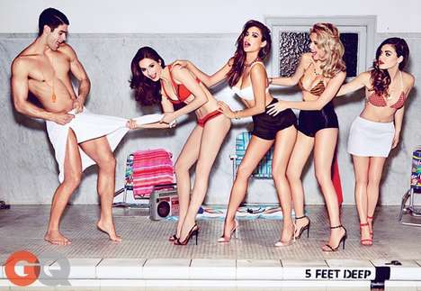 Coquettish Poolside Editorials - The Pretty Little Liars Cast Sizzles in This New GQ Shoot