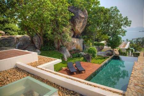 Exotic Boulder-Surrounding Retreats - This Getaway Villa in Thailand is Built Around Natural Rocks