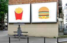 Minimalist Menu Branding - McDonald's Picto Ad Campaign Showcases Its Big 6 Items With Iconic Images