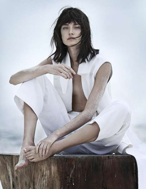 Sandy All-White Editorials - The Vogue Russia