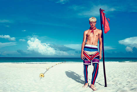 Striking Beachside Editorials - The Otto Pierce by Paola Kudacki Image Series is Summer-Ready