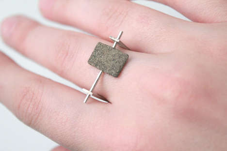 Disintegrating Dust Jewelry - Designer Agusta Sveinsdottir's Jewelry is Coated with Dust Particles