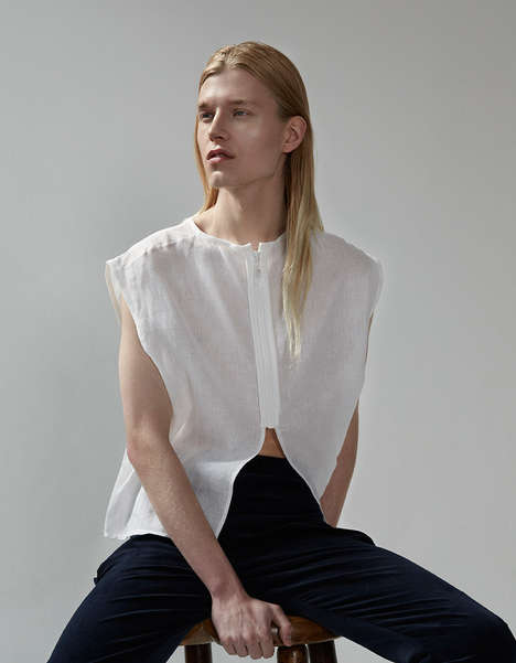 Minimalist Androgyny Catalogs - The Aimee Knight Spring/Summer Campaign is Raw