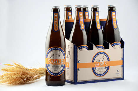 Fencing Beer Branding - Saber Beer Uses Sport to Promote its Brew