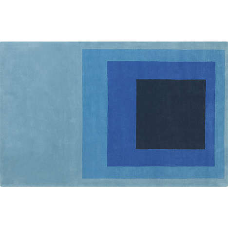 Modernist Rug Accessories - The Blue Block Rug from CB2 Resembles a Mark Rothko Painting