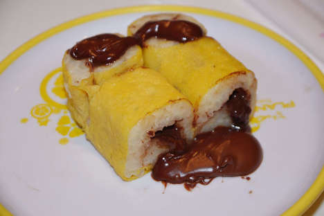 Chocolate-Covered Sushi Specialities - These Nutella Sushi Rolls Blend the Best of Both Worlds