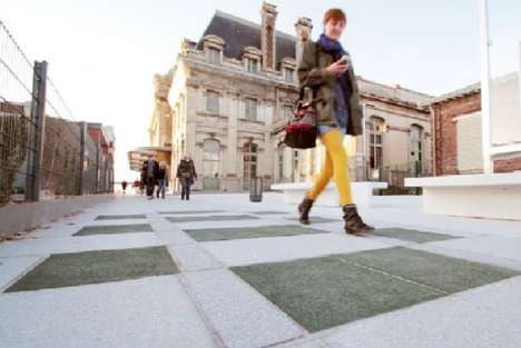 Sustainable Rubber Sidewalks - These Rubber Walkways Protect From the Issues of Concrete