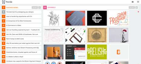 Entrepreneurial News Interfaces - The Panda Website Offers Daily Inspiration for Creatives