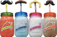 Hipster Drink Accessories - 7-Eleven is Going Hipster with Mason Jar Slurpees & Mustache Straws