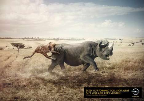Animal Collision Ads - Opel Cars Humorously Promotes Its Forward Collision Alert