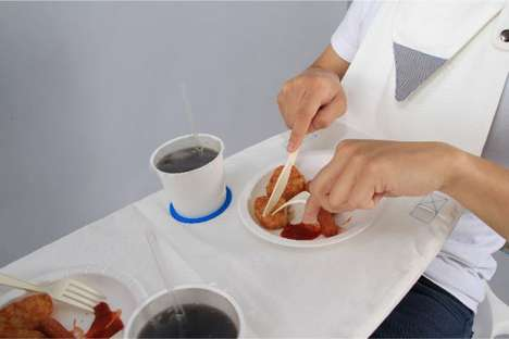 Wearable Picnic Blankets - The Napkin Table by Michael Jan Doubles as a Bib
