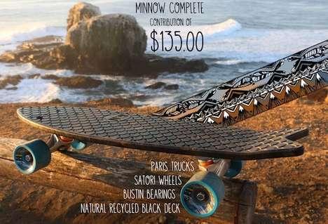 Sustainable Oceanic Skateboards - Bureo Skateboards Makes Skateboards from Ocean Netting