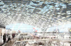Rippled Airport Proposals - Foster + Partners Puts Forth a Design for the Isle of Grain in England