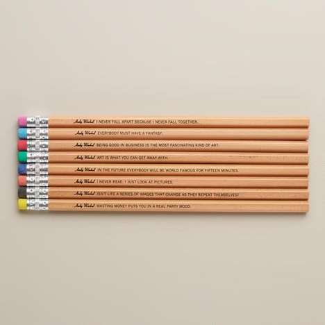 Artist Aphorism Pencils - This Philosophical Pencil Set Features Eight Different Andy Warhol Quotes