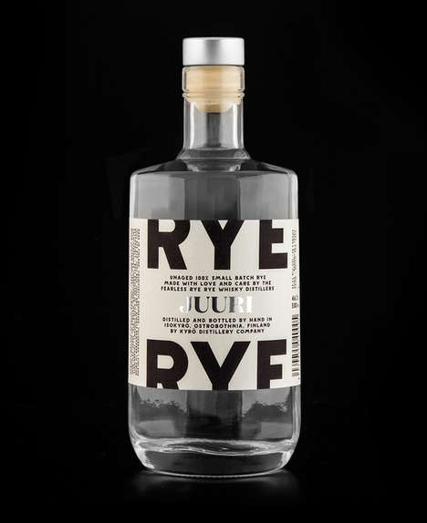 Historical Font Rye Packaging - Juuri by Werklig Looks to History for Branding Ideas