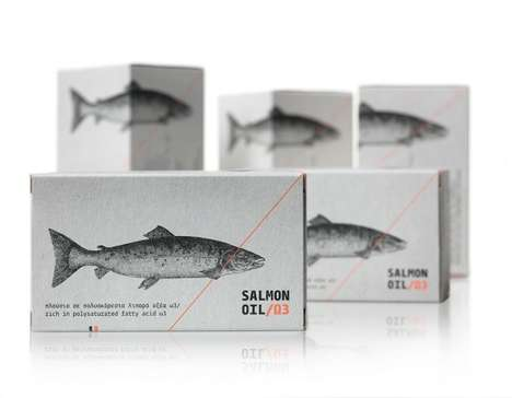 Food-Like Pill Packaging - MouseGraphics Uses Literal Representation for Salmon Oil Pills