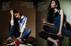 Glam Tomboy Editorials - Kenton Magazine's Tomboy Fashion Story Mixes Feminine and Masculine Ideas